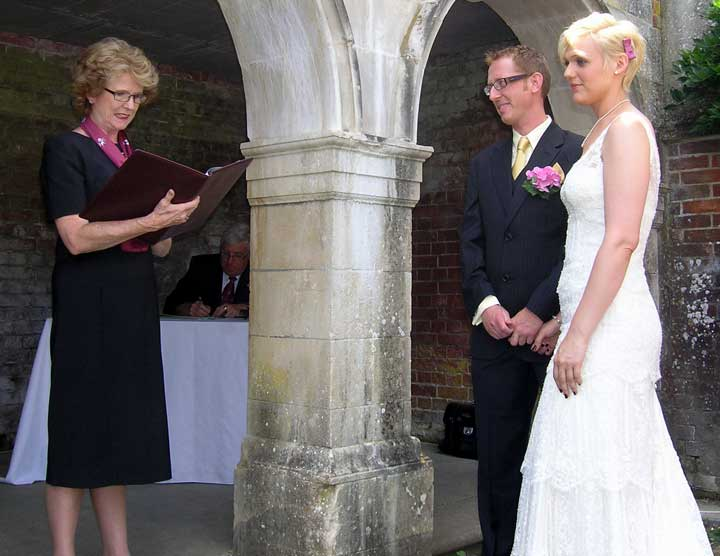 reading of marriage vows