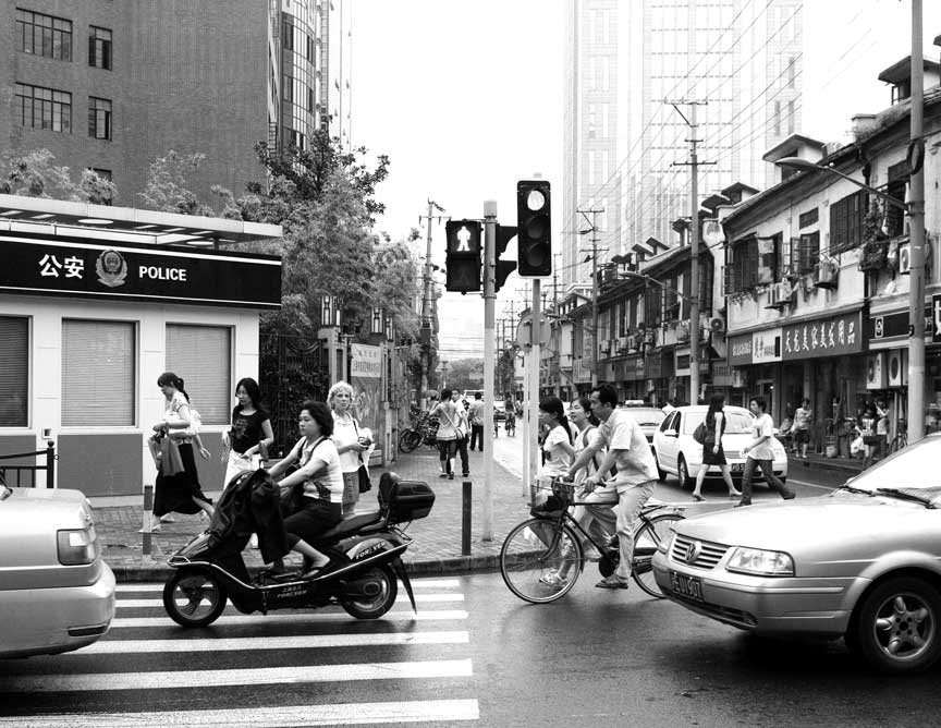 Ruth in Shanghai traffic