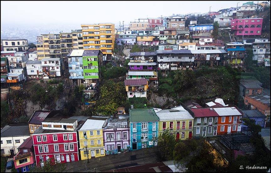 colorful houses on hill