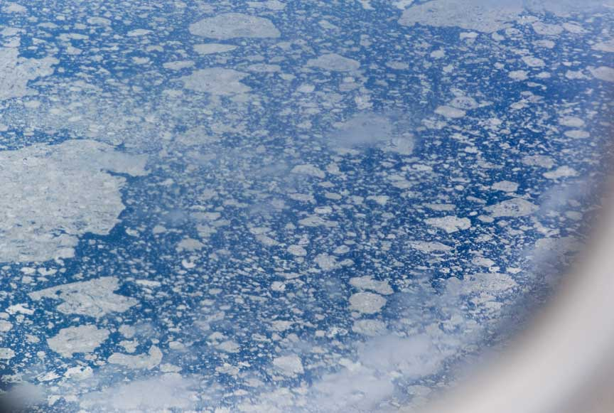 ice flows in northern Hudson Bay
