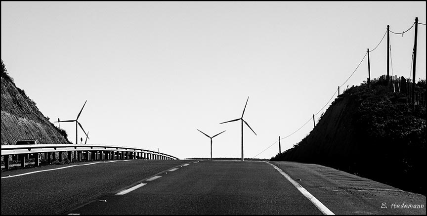 windmills along the highway